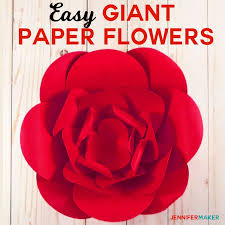 Paper Flower Pattern Impressive How To Make Giant Paper Flowers Easy And Fast Jennifer Maker