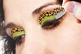 leopard eye makeup stickers photo 2