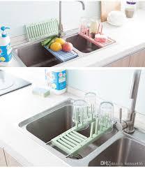 2018 retractable stainless steel sink draining rack kitchen dish vegetable fruit drying rack feeding bottle holder rack storage shelf from kenna456