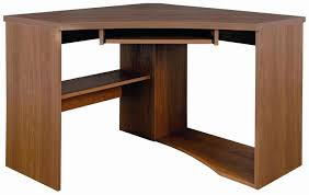 mahogany finish home office corner shelf. beautiful finish outstanding stylish brown finish mahogany corner office coumputer table  with single shelves and keyboard shelf on home n
