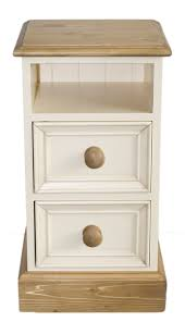 solid pine bedside cabinet waxed and