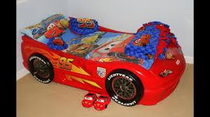 race car lightning mcqueen bed
