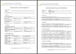 Evaluation Form Template Unique Employee Evaluation Forms Template Management Templates For
