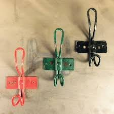 metal hooks. coloured metal hooks - short
