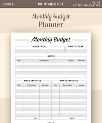 Family Budget For A Month Monthly Budget Printable Template Monthly Cash Budget Bill Organize Budgeting Printables Monthly Expenses Family Budget Printable Pdf