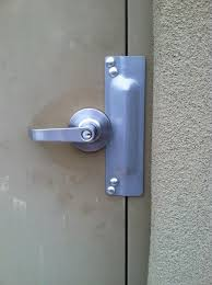Image Inward Swinging Clutched Entry Lever With Latch Guard After Acme Installation Acme Locksmith Security Weakness Easy Fix