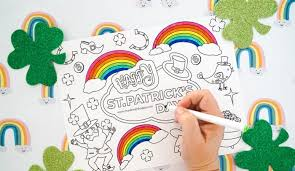 Shamrocks and leprechaun's hat are generally green in color, but feel free to use any. Free Printable St Patricks Coloring Pages Made With Happy