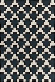 black and white rug patterns. Avon Collection Hand-Woven Area Rug In Blue, Black, \u0026 White Design Black And Patterns F