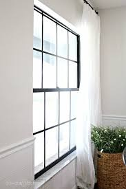 how to paint black window panes