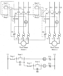 submersible pump starter wiring diagram motor circuit fig 1 starters are sequenced so that must be