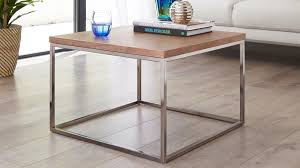 chrome coffee table. Walnut And Black Chrome Coffee Table E