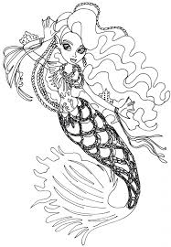 Small Picture Monster High Coloring Pages Sirena Von Boo Monster High Coloring