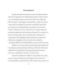 dissertation acknowledgement the oscillation band dissertation acknowledgement