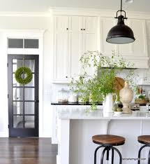 A budget friendly, black and white country cottage farmhouse kitchen ...