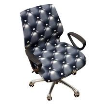 universal size printed leopard puter office elastic armchair slipcover removable seat arm chair covers stretch rotating