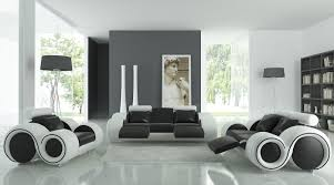 Enchanting Modern Black White Grey Living Room Decoration Using