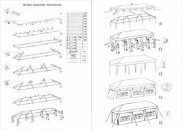 mefeir 10 x30 canopy tent party wedding with 5 removable windproof sidewalls outdoor patio gazebo