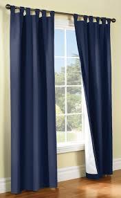 weathermate thermalogic tab top curtain pair navy