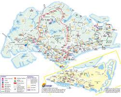 singapore tourist map  singapore • mappery