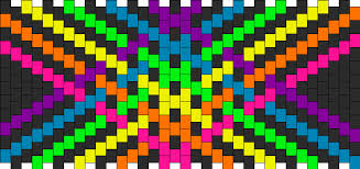 Kandi Patterns New Rainbow Strips Pony Bead Patterns Simple Kandi Patterns For Kandi