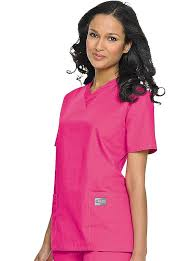Landau Scrubzone Womens Double Pocket V Neck Nursing Top