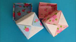 折り紙 箱 正方形