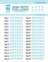 Group Fitness Challenge Tracker 30 Day Water Challenge Tracker Pdf Loose Weight Pinterest
