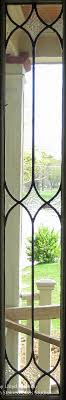 stained glass sidelights by front door