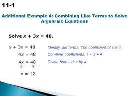 14 simplifying algebraic expressions