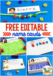 Free Name Cards Editable Name Cards With Student Pictures Pre K Pages
