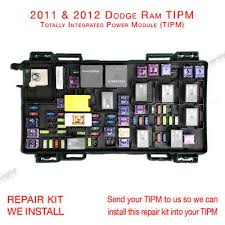 2011 2012 dodge ram 1500 2500 3500 tipm fuse box repair kit service 2011 2012 dodge ram 1500 2500 3500 tipm fuse box repair kit service