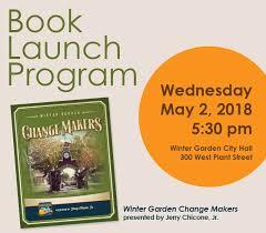 book launch winter garden change makers