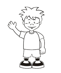 Small Picture boy and girl coloring page in outline of a pages coloring pages