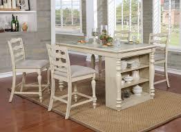 Furniture Of America Wilson Rustic Counter Height Usb Kitchen Island