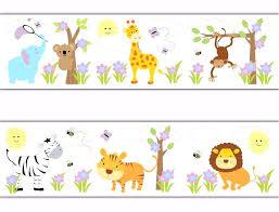 nursery borders and wallpaper jungle animals wallpaper border decals baby girl nursery safari room nursery wallpaper