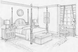 Bedroom One Point Perspective Design Dream Bedroom Sketch Bedroom Ideas  Pictures