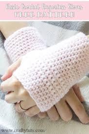 Crochet Gloves Pattern Impressive Basic Crochet Fingerless Gloves Free Pattern Crafty Tutorials