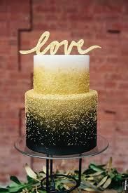 black gold wedding cake onefabday