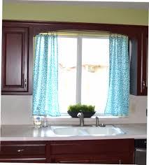 aqua blue kitchen curtains