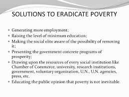 Essay Solution Poverty Developing A Business Proposal