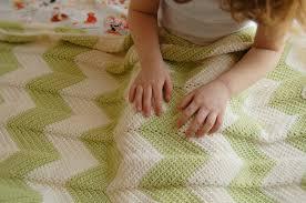 diy chevron crochet baby blanket