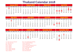 yearly printable calendar 2018 2018 printable calendar with thailand holidays free printable