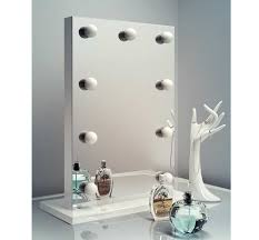 luxe make up spiegeltje met 9 dimbare lampen