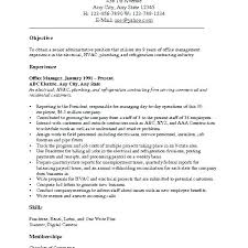 Resume Job Objective Unique Job Objectives For Resumes Foodcityme