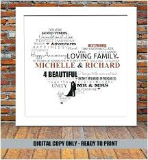 gifts for 40th wedding anniversary gift present