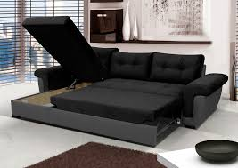 leather sofa bed. NEW Corner Sofa Bed With Storage, Black Fabric + Grey Leather. Very COMFORTABLE! Leather F