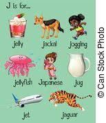 words begin with letter j clipart vector csp