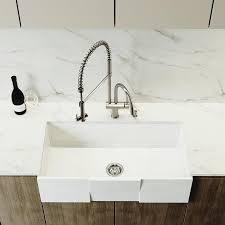 Vigo Matte Stone 36 In X 18 In Matte White Single Basin Standard 8