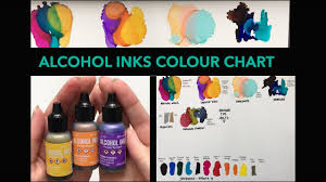 Alcohol Inks Colour Chart 28 Colours Ranger And Pinata