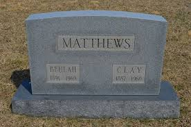 Clay Charles Matthews (1889 - 1969) - Genealogy